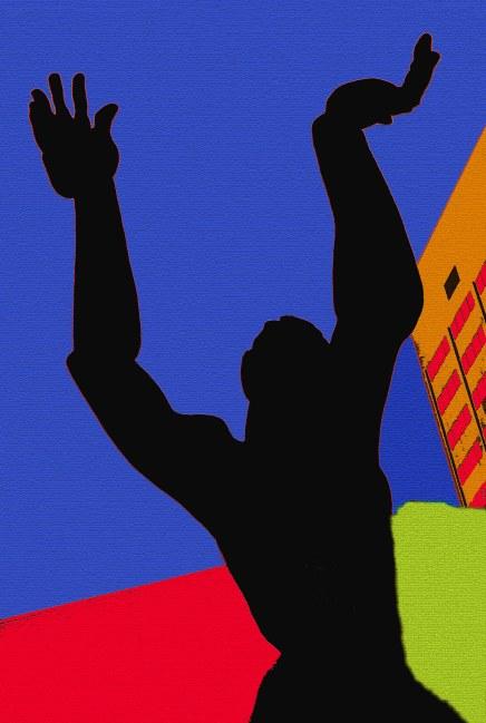 68_Statue silhouette black flat