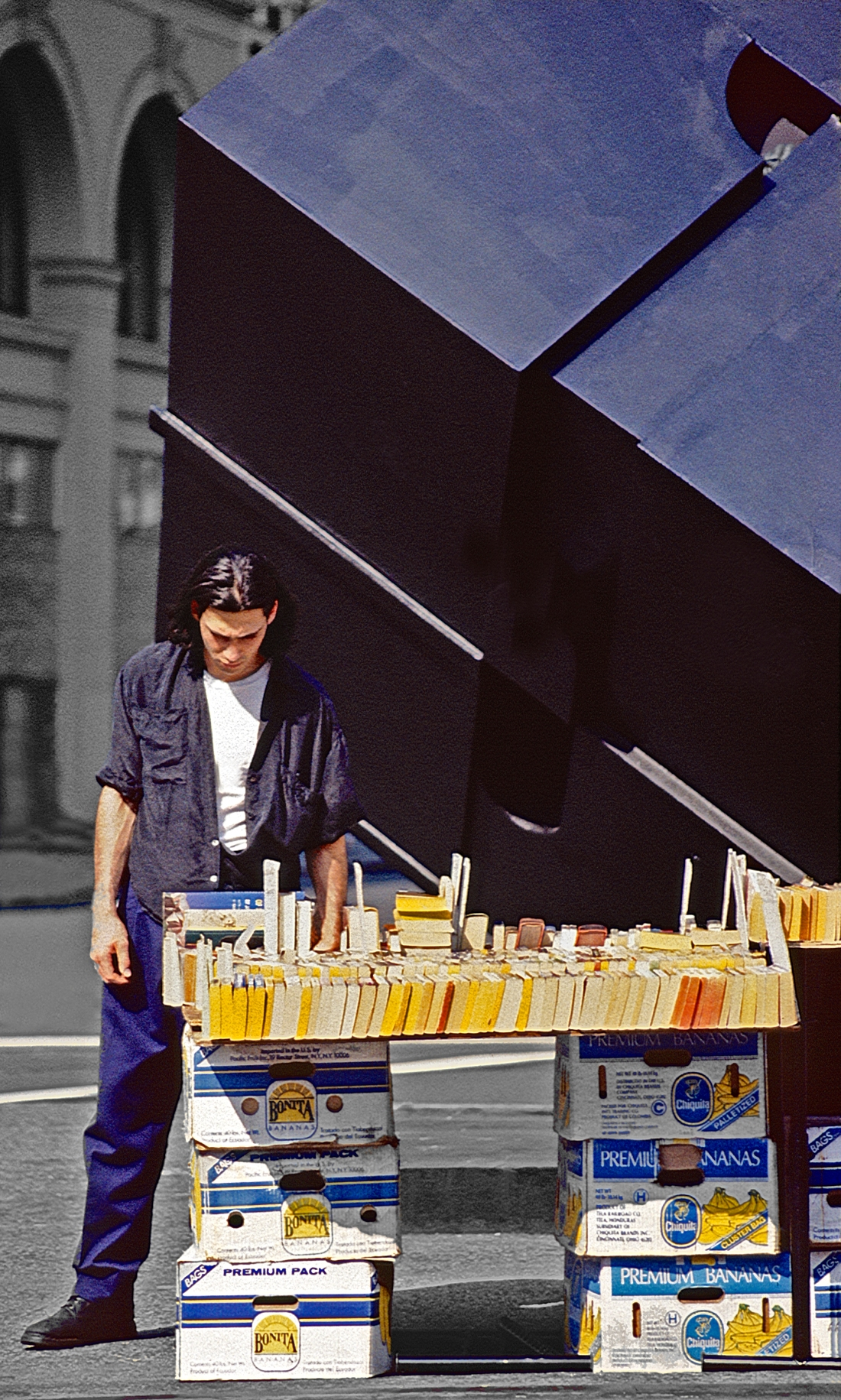 Bookseller and The Cube, Astor Place